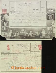 67225 - 1923-34 reklamní telegram Čerekla č.17 (tiskopis 769č II