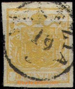 67240 - 1850 Mi.1, tmavě žlutá, velmi hezký střih, téměř cel