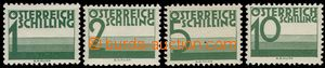 67246 - 1925 Mi.P155-158, postage-due, 4 highest value, on stmp 5Sch