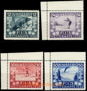 67248 - 1933 Mi.551-554, FIS I., mint never hinged, 3 pcs of corner