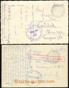 67266 - 1940-42 2x pohlednice přepravená DDP BuM, 1x Ung.Hradisch/