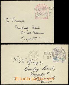 67279 - 1940 GREAT BRITAIN / LODNÍ POŠTA  sestava 2ks dopisů s lo