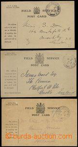 67281 - 1915-17 GREAT BRITAIN  sestava 3ks lístků PP s předtišt�