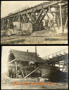 67295 - 1924 Vrakuňa - comp. 2 pcs of Ppc, construction railways br