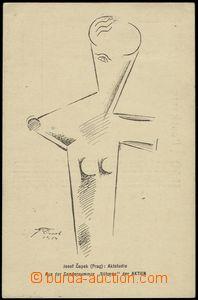 67324 - 1914 ČAPEK Josef (1887–1945), kubistická studie aktu, vz