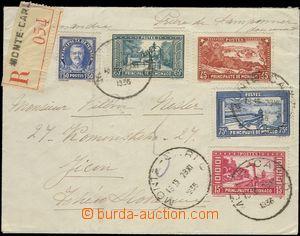 67364 - 1936 R-dopis do Československa vyfr. zn. Mi.119, 120, 124, 1