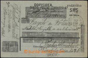 67368 - 1921 Mi.P42, přetiskové provizorium, adresováno do Prahy,