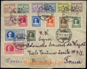 67371 - 1929 R-dopis do Říma vyfr. zn. Mi.1-15, kompletní série,