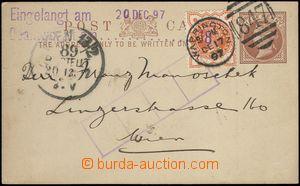 67374 - 1897 GREAT BRITAIN  firemní lístek Mi.P7 s přítiskem na