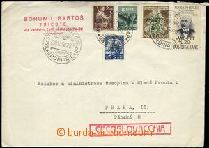 67384 - 1950 letter to Czechoslovakia with multicolor franking with