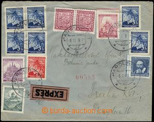 67391 - 1939 Ex letter with parallel franking Pof.252 2x, 300 + Bohe