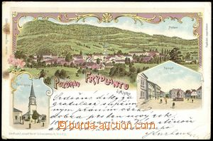 67427 - 1902 Frýdlant above O. - lithography; long address, Us, bum