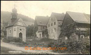 67428 - 1929 Vinařice (Weingarten) - houses, chapel; Us, good condi