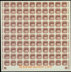 67553 - 1939 Pof.OT1 overprint GD-OT, complete. counter sheet with p