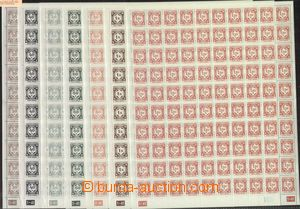 67565 - 1941 Pof.SL1-12 Official issue I, complete 100 pcs of counte