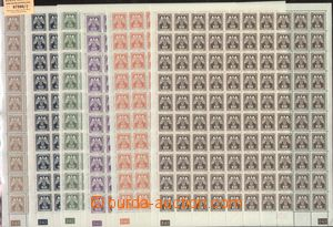 67566 - 1943 Pof.SL13-24 Official issue II, complete 100 pcs of coun