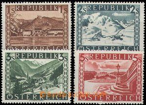 67570 - 1945 Mi.767-770 II., Landscape, mint never hinged, c.v.. 63�