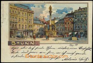 67647 - 1898 Brno (Brünn) - lithography, square; long address, Us,