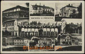 67648 - 1927 Brodek u Přerova - fotokoláž, fotbalisté; prošlá,