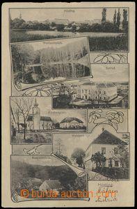 67653 - 1913 Hostim (Hösting) - 6-okénková, zámek, mlýn, lesní