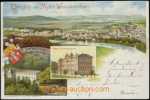 67654 - 1898 Hranice na Moravě ( Mähr. Weisskirchen) - litografick