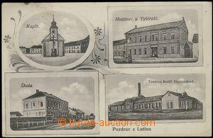 67664 - 1914 Lutín - 4-views, factory, pub; Us, very light stain