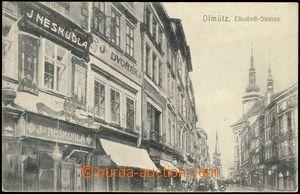 67667 - 1906 Olomouc (Olmütz) - street, shops; Un, good condition