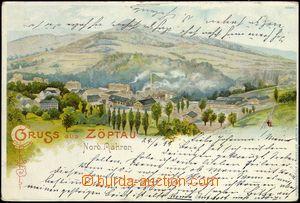 67670 - 1899 Sobotín (Zöptau) - lithography, general view; long ad