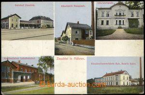 67673 - 1914 Suchdol nad Odrou (Zauchtel) - 5okénková, nádraží,