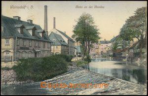 67676 - 1910 VARNSDORF (Warnsdorf) - nábřeží; prošlá, dobrý s