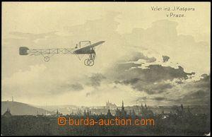 67682 - 1910 vzlet aviatika ing. Kašpara v Praze; nepoužitá, dobr