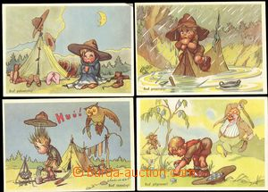 67687 - 1939 Salač: sestava 10ks veselých pohlednic; VF, nepoužit