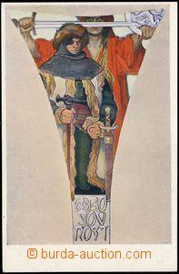 67698 - 1923 MUCHA Alfons (1860–1939), Fresky - Obecní dům (Weil