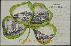 67704 - 1901 Česká Třebová - collage four-leaf clover, 4 views town;