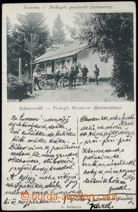 67707 - 1898 Šumava, Prokopův penzionát, veršovaný text; DA, pr