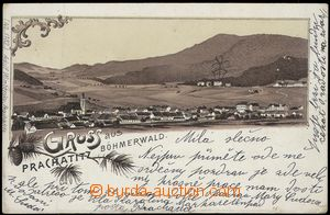 67708 - 1901 Prachatice (Prachatitz) - lithography; long address, Us