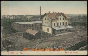 67713 - 1906 Lomnice nad Popelkou - nádraží, kolejiště, lidé;