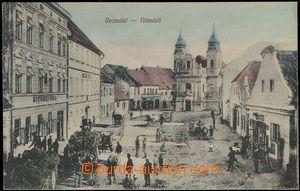 67715 - 1918 Rožmitál below T. - square, people; Us, good conditio