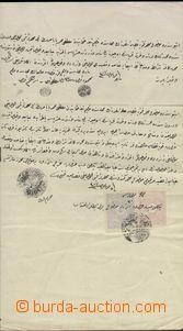 67737 - 18?? TURKEY, dokument s nalepenými kolky vpředu i vzadu, r