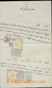 67738 - 18?? TURKEY, document with mounted revenues, any other one,
