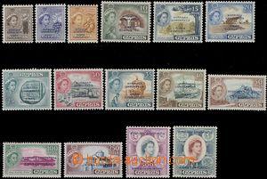 67809 - 1955 Mi.179-93 (SG.188-202), kompletní přetisková série