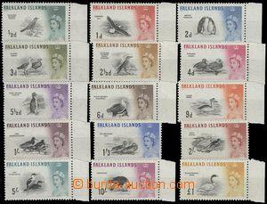 67814 - 1960 Mi.123-37 (SG.193-207), Birds, complete set,  mostly R