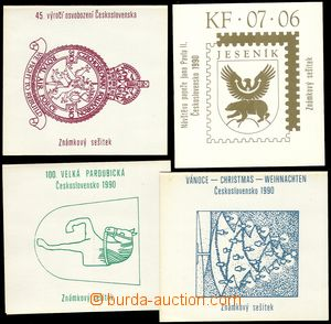 68080 - 1990 comp. 4 pcs of stamp-booklet, Christmas 1990, 100. Pard
