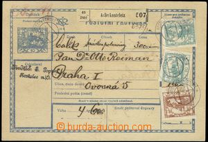 68087 - 1919 CPP1A whole dispatch-note with Czech text, rough paper,