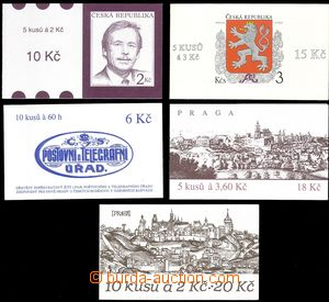 68099 - 1993-95 comp. 5 pcs of stamp booklets No. 2, 3, 12, 39, 41,