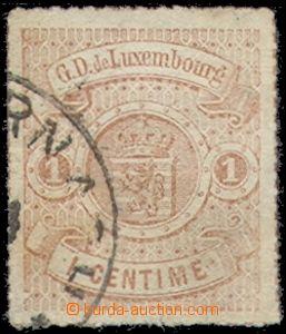 68274 - 1865 Mi.16c, Znak červenooranžová, zasklená pasparta, za