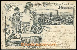 68275 - 1898? České Budějovice, čb koláž, pivovar a pivovarnic