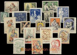 68287 - 1920-47 Ochrana matek a dětí ČSR, sestava 20ks různých