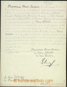 68312 - 1900 GEORGE I of Greece, wedding notification addressed to C