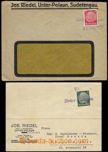 68334 - 1939 Joseph Riedel, Unter-Polaun, comp. 2 pcs of identificat